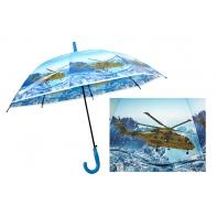 Automatyczna duża parasolka dziecięca z motywem helikoptera