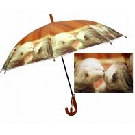 Dziecięca duża automatyczna parasolka z gwizdkiem, całujące się kotki