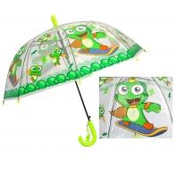 Przezroczysta głęboka parasolka dziecięca - żabka