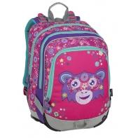 Plecak szkolny Bagmaster trzykomorowy, małpka
