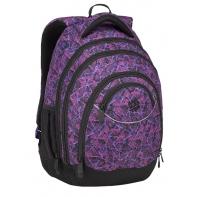 Superlekki plecak szkolny Bagmaster, fioletowy w trójkąty ENERGY9D