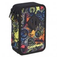 Potrójny piórnik z wyposażeniem, Coolpack Jumper 3, FREE STYLE A434