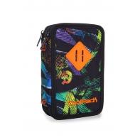 Potrójny piórnik z wyposażeniem Coolpack Jumper 3, Grunge Time B67033