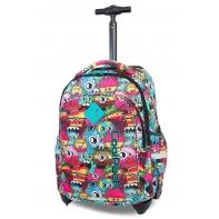 Plecak szkolny na kółkach CoolPack Junior 24 L, Wiggly Eyes Pink B28047