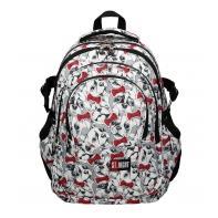 Trzykomorowy plecak szkolny St.Right 29 L, Lovely Pets BP1