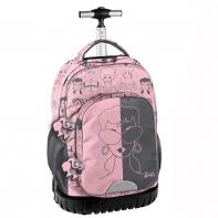 Plecak szkolny na kółkach Paso, różowy Barbie