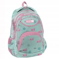 Lekki plecak szkolny Paso, flamingi