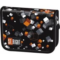 Piórnik jednokomorowy dwuklapkowy, St.Right Cubes PC3