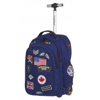 Plecak szkolny na kółkach CoolPack Junior 34 L, Badges Blue