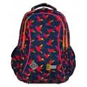 Dwukomorowy plecak szkolny St.Right 19 L, Rainbow Birds BP26