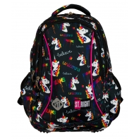 Dwukomorowy plecak szkolny St.Right 19 L, Unicorns BP26