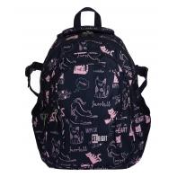 Trzykomorowy plecak szkolny St.Right 29 L, Cats BP1