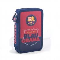 Piórnik podwójny z wyposażeniem FC-90 FC Barcelona Astra