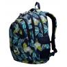Trzykomorowy plecak szkolny St.Right 29 L, Tropical Leaves BP2