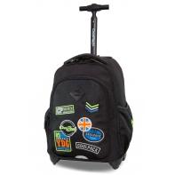 Plecak szkolny na kółkach CoolPack Junior 24 L, Badges Black