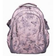 Trzykomorowy plecak szkolny St.Right 29 L, Vintage Butterflies BP1