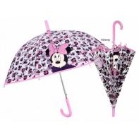 Dziecięca głęboka parasolka z motywem Myszki Minnie, różowa