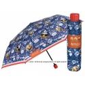 Mała składana parasolka w emotikonki EMOJI, granatowa