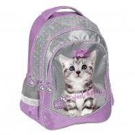 Plecak szkolny dla dziewczynki Paso, kotek z kokardką
