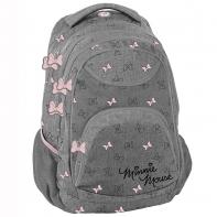 Plecak szkolny dla dziewczynki Paso, szary Myszka Minnie