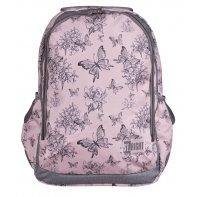 Dwukomorowy plecak szkolny St.Right, Vintage Butterflies BP47