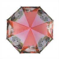Parasolka dziecięca, automatyczna z gwizdkiem, różowa w kotki