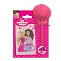 Zestaw notesik + długopis z pomponem Barbie, Paso