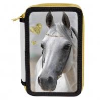Piórnik trzykomorowy Paso, biały koń