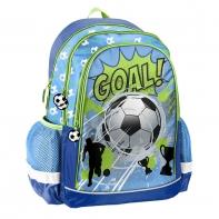 Plecak szkolny z piłką nożną niebiesko-zielony , Paso