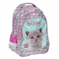 Plecak szkolny z kotkiem w okularach, Paso