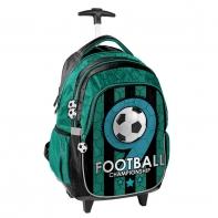 Plecak szkolny na kółkach Football, Paso