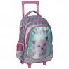 Plecak szkolny na kółkach z kotkiem w okularach, Paso
