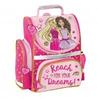 Lekki usztywniany tornister szkolny różowy Barbie, Paso