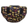 Trzykomorowy plecak szkolny St.Majewski 29 L, Emoji Yellow BP4