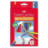 30 kredek ołówkowych trójkątnych Faber-Castell + temperówka