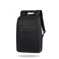 """Plecak męski na laptopa 13-15,6"""" + USB, R-bag Fort Black"""