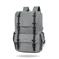 "Plecak męski na laptopa 15"" + USB, R-bag Packer Gray"