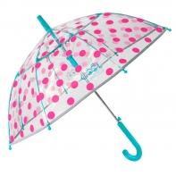 Dziecięca parasolka z odblaskową lamówką, grochy