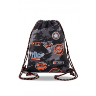 Worek na obuwie Coolpack Sprint, Badges Black B73152