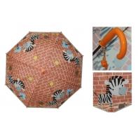 Parasolka dziecięca duża, automatyczna z gwizdkiem, wesoła zebra