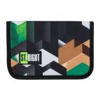 Piórnik jednokomorowy dwuklapkowy, St.Right MOTYW GRY 3D, PC3