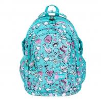Trzykomorowy plecak szkolny St.Right 29 L, PASTELOWE LAMY BP1