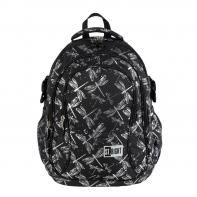 Trzykomorowy plecak szkolny St.Right 29 L, WAŻKI BP1