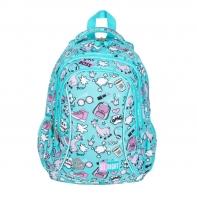 Dwukomorowy plecak szkolny St.Right 19 L, PASTELOWE LAMY BP26