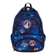 Dwukomorowy plecak szkolny St.Right 24 L, KOSMOS BP7