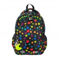 Trzykomorowy plecak szkolny St.Right 19L, GAME OVER BP58