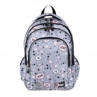 Trzykomorowy plecak szkolny St.Right 19L, SLANG BP58