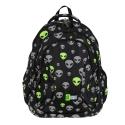 Trzykomorowy plecak szkolny St.Right 29 L, ODBLASKOWI KOSMICI BP2