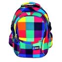 Trzykomorowy plecak szkolny St.Right 29 L, Maxi Squares