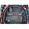 Trzykomorowy plecak szkolny St.Right 29 L, Pixelmania Blue